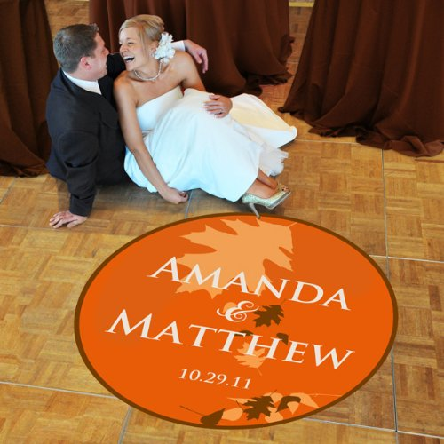 Baby Keepsake: Fall Wedding Dance Floor Decal - Standard 39