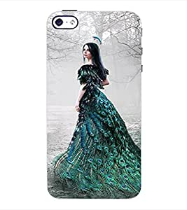 ColourCraft Fantasy Girl Back Case Cover for APPLE IPHONE 4S