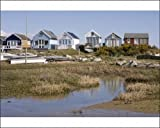 Photographic Print of Beach huts on Mudeford Spit or Sandbank, Christchurch Harbour, Dorset, England from Robert Harding