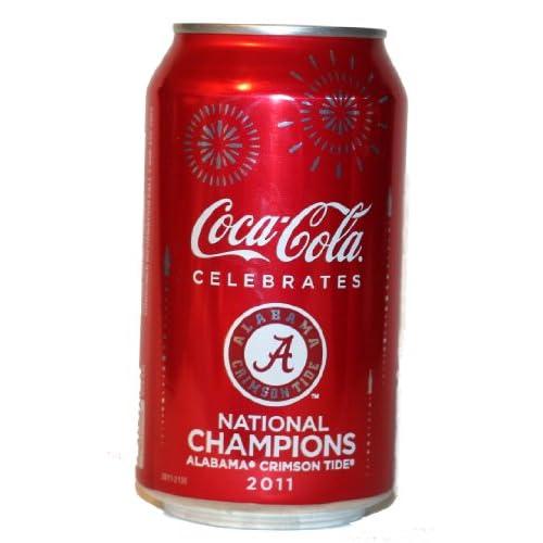 Alabama Crimson Tide Football 2011 National Champions Coke Never Opened. 12 0z Can