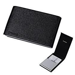 EDC04A01 Black Business Card Case For Men Gift Idea Stainless Steel Leather Card Case With Gift Box Leather Card Case With Gift Box By Epoint