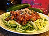 Vegetable Spiralizer ~ Zucchini Spaghetti Pasta Maker ~ Fast Simple Spiral Noodle Cutter ~ 2 Blade Sizes ~ Recipe eBook & Cleaning Brush Included ~ Easy Cleaning & Storage ~ Healthy Diet ~ Eat More Veggies ~ Lifetime Guarantee