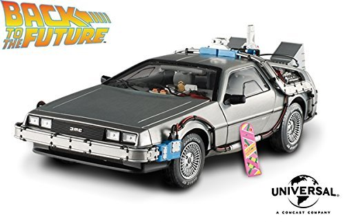 Back to the Future Time Machine with Mr. Fusion Model Car in 1:18 Scale by Mattel Elite
