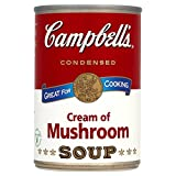 Campbell's Condensed Cream of Mushroom Soup 295g (Pack of 6 x 295g)