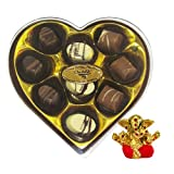 Chocholik Belgium Gifts - Heartfelt Chocolates With Lovely Box With Small Ganesha Idol - Diwali Gifts