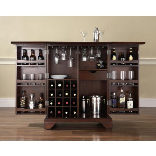 Home Liquor Cabinet: Purchase In Home Bar: LaFayette Expandable Home Bar Liquor