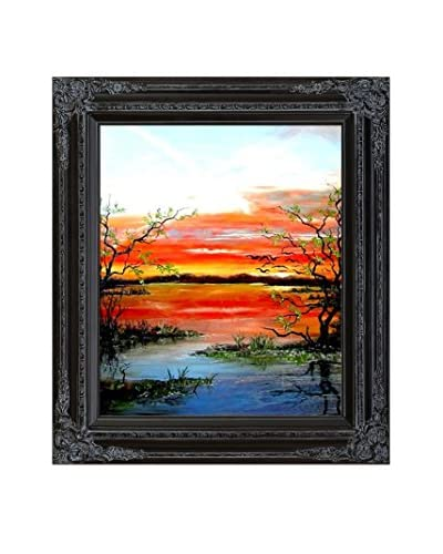 Susan Art Cedrics Place Framed Canvas Print