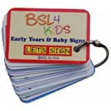 LET'S SIGN Early Years and Baby Signing Card Keyring, Graphics by BSL Sign Language Author Cath Simth (LET's SIGN Series)by BSL for Kids