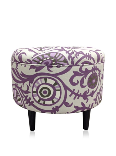 Sole Designs Passion Round Ottoman, Purple