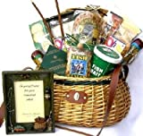 Fishing Gift Basket For Fishermen in Deluxe Fishing Creel