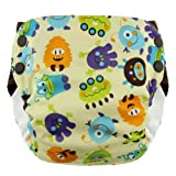 Blueberry Side Snap Simplex All in One Diapers, Monsters, Large
