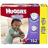 Huggies Little Movers Diapers, Step 4, Economy Plus Pack, 152-Count
