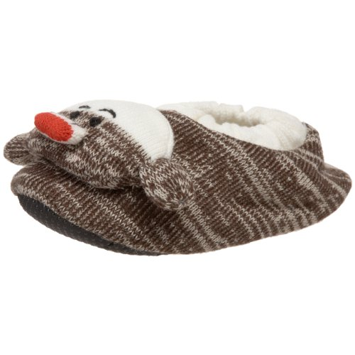 Muk Luks Women's Monkey Slippers, Brown, Small