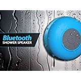MVE(TM) Portable Bluetooth Speaker With Suction Subwoofer Shower Waterproof Wireless Handsfree (Blue)