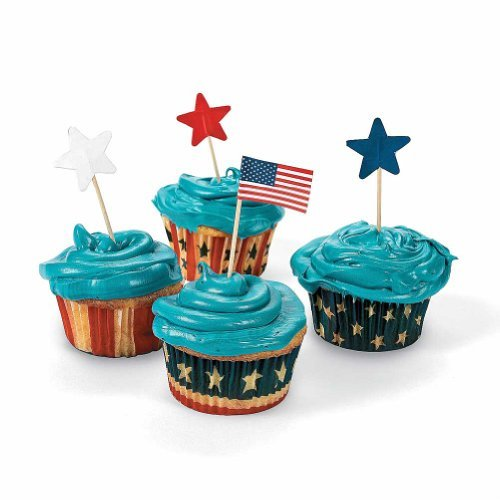 100 Patriotic Baking Cups With Picks Home improvement