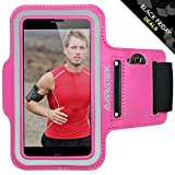 60% OFF BLACK FRIDAY - AARATEK Pro Sport Armband for iPhone 5,5s,5c, 4,4s, iPod Touch (Pink) - Best for workouts, running, cycling, or any fitness activity outside or in the gym - Room for cash too!