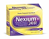 Nexium 24HR (20mg, 42 Count) Delayed Release Heartburn Relief Capsules, Esomeprazole Magnesium Acid Reducer