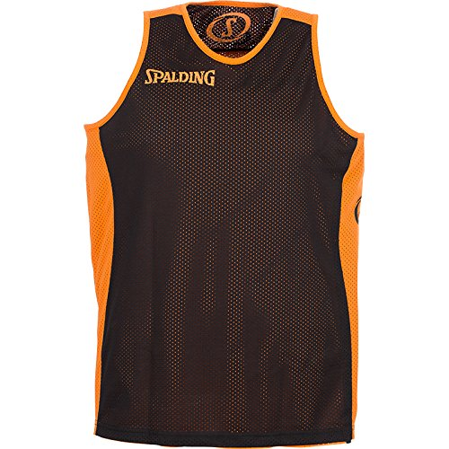 Spalding – Pantaloncini Teamsport Essential, double face, Unisex, Bekleidung teamsport essential reversible shorts, Arancione/Nero, XXXXL