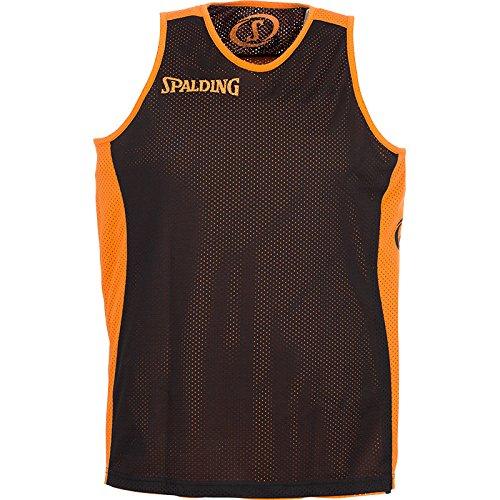Spalding–Pantaloncini Teamsport Essential, double face, Unisex, Bekleidung teamsport essential reversible shorts, Arancione/Nero, XXXXL