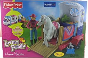 Fisher Price Loving Family Horse Trailer and Pony
