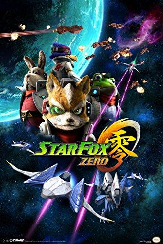 Star Fox Zero Space Battle Fox McCloud Arwing Nintendo 64 GameCube Wii U Characters Poster - 12x18