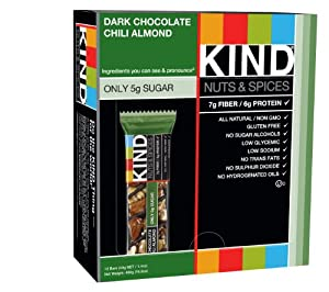 Kind Nuts and Spices Dark Chocolate Chili Almond, 1.4 Ounce (Pack of 12) by Kind Nuts and Spices