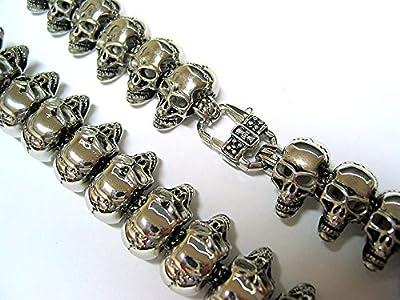 "Stainless Steel 316L Mens Skull Biker Rocker Heavy 427 grams 26"" Necklace Chain"