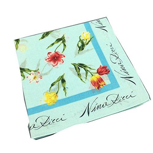 Forlisea Women Flower Print Handkerchief Cotton Hanky 4