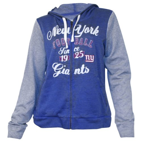 Women's NFL Team Fashion Full Zip Hoodie - New York Giants - Large at Amazon.com