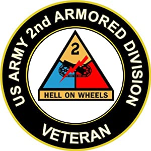 "Amazon.com: 3.8"" US Army 2nd Armored Division Veteran"