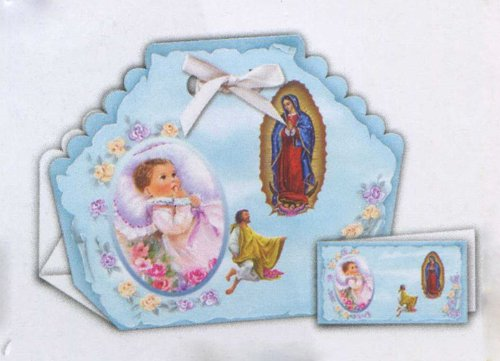 12 Spanish Invitations for Baby Boy - Baptism