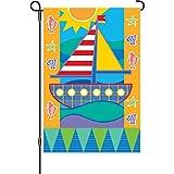 Premier Kites 51213 Garden Flag, Seashore, 12 by 18-Inch