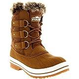 Womens Snow Boot Nylon Short Winter Snow Fur Rain Warm Waterproof Boots