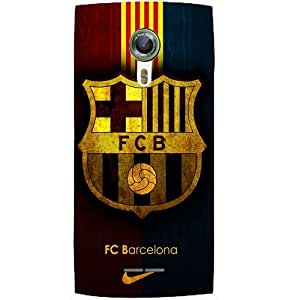 Casotec Barcelona Club Pattern Design Hard Back Case Cover for Alcatel Onetouch Flash 2