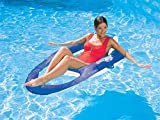 Swimways Spring Float Recliner for the Swimming Pool White Blue 13018 by Swim Ways Springfloat