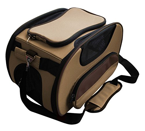 Airline Approved Sky-Max Modern Collapsible Pet Carrier, Light Brown, One Size