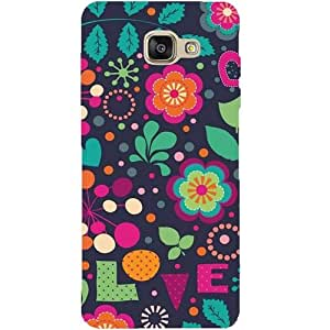 Casotec Birds Love Patterns & Ethnic Design Hard Back Case Cover for Samsung Galaxy A5 (2016)