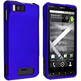 Rubberized Blue Premium Phone Protector Hard Cover Case Compatible with Motorola Droid X MB810