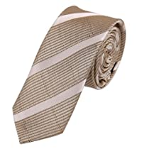 PS1082 Comfort Father Brown Fantastic Narrow Necktie Matching Gift Box Set Stripes Tie Perfect Christmas Gifts for Him By Epoint