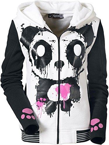 Killer Panda Mase Hood Felpa jogging donna bianco/nero XL