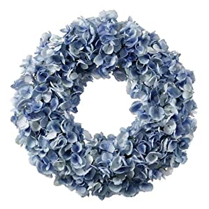 Wreath Dried Hydrangea 24'' Light Blue