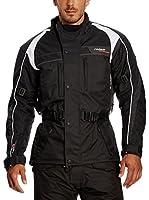 Roleff Racewear Chaqueta de Moto Motorrad (Negro / Gris)