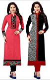 #7: Navratri New Combo Kurties Collection Low Price Printed Pink Kurti For Girl Crepe Cotton Low Price Amazon Prime Kurti