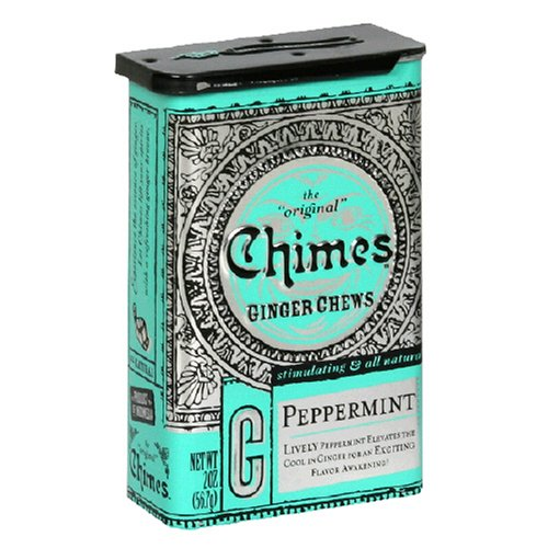 Buy Chimes Peppermint Ginger Chews, 2 Ounce Tins (Pack of 20) (Chimes, Health & Personal Care, Products, Food & Snacks, Snacks Cookies & Candy, Candy)