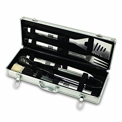 NCAA Ohio State Buckeyes Fiero 5-Piece BBQ Tool Set With Case [並行輸入品]