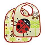 Sugar Booger Baby Waterproof Mini Bib Gift Set of 2. Lady Bug Feeding Collection. ORE Originals.