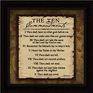 The Ten Commandments - Framed Art Print