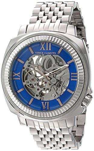 vince-camuto-vc-del-hombre-1069blsv-expuestos-automatico-plateado-reloj-de-pulsera
