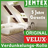 Original VELUX Blackout Blind for GGL / GPL / GHL / GTL F08 in Fabric Colour 3112 / Brown/Beige with channels in aluminium / DKL F08 3112S - also suitable for GGU / GPU / GHU / GTU - Size F08