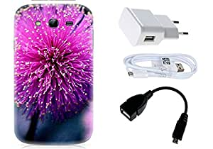 Spygen Samsung Galaxy Grand Duos i9082 Case Combo of Premium Quality Designer Printed 3D Lightweight Slim Matte Finish Hard Case Back Cover + Charger Adapter + High Speed Data Cable + Premium Quality OTG